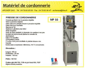 Catalogue matériel cordonnerie